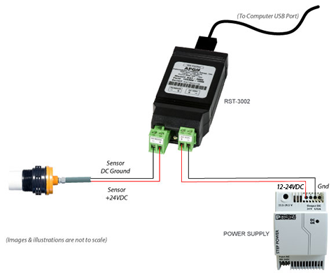 Use the RST-3002 to program the Ultrasonic Sensor