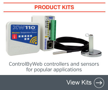New product kits. ControlByWeb controllers and sensors for popular applications. View all kits.
