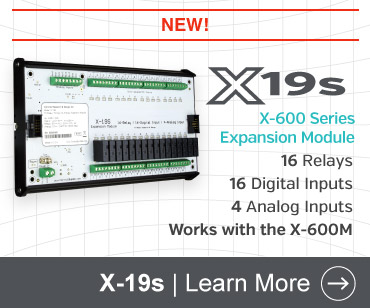 X-19s 16-Relay, 16 Digital Input, 4 Analog Input Expansion Module