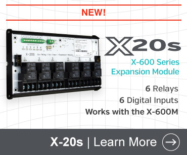 X-20s 6-Relay, 6 Digital Input Expansion Module