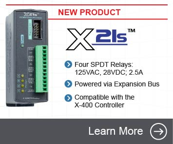 Announcing the X-21s Four Relay Expansion Module for the X-400 controller