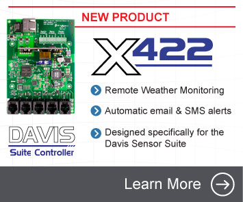 Announcing the X-422 Davis Suite Controller - Remote Weather Monitoring