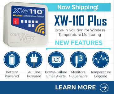 Announcing the XW-110 Plus Wireless Temperature Monitor with tempeature logging, monitoring of up to 3 sensors, and more.