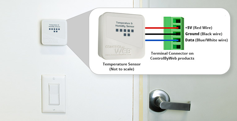 Wall-mount temperature and humidity sensor wiring diagram