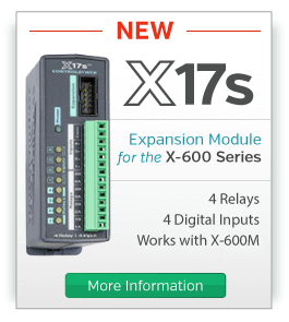 X-17s Four Relay, Four Input Expansion Module for the X-600M