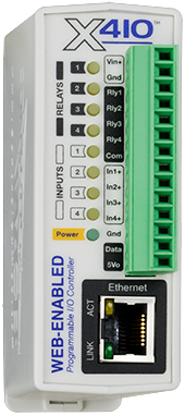 X-410 Web-Enabled Programmable Controller | ControlByWeb